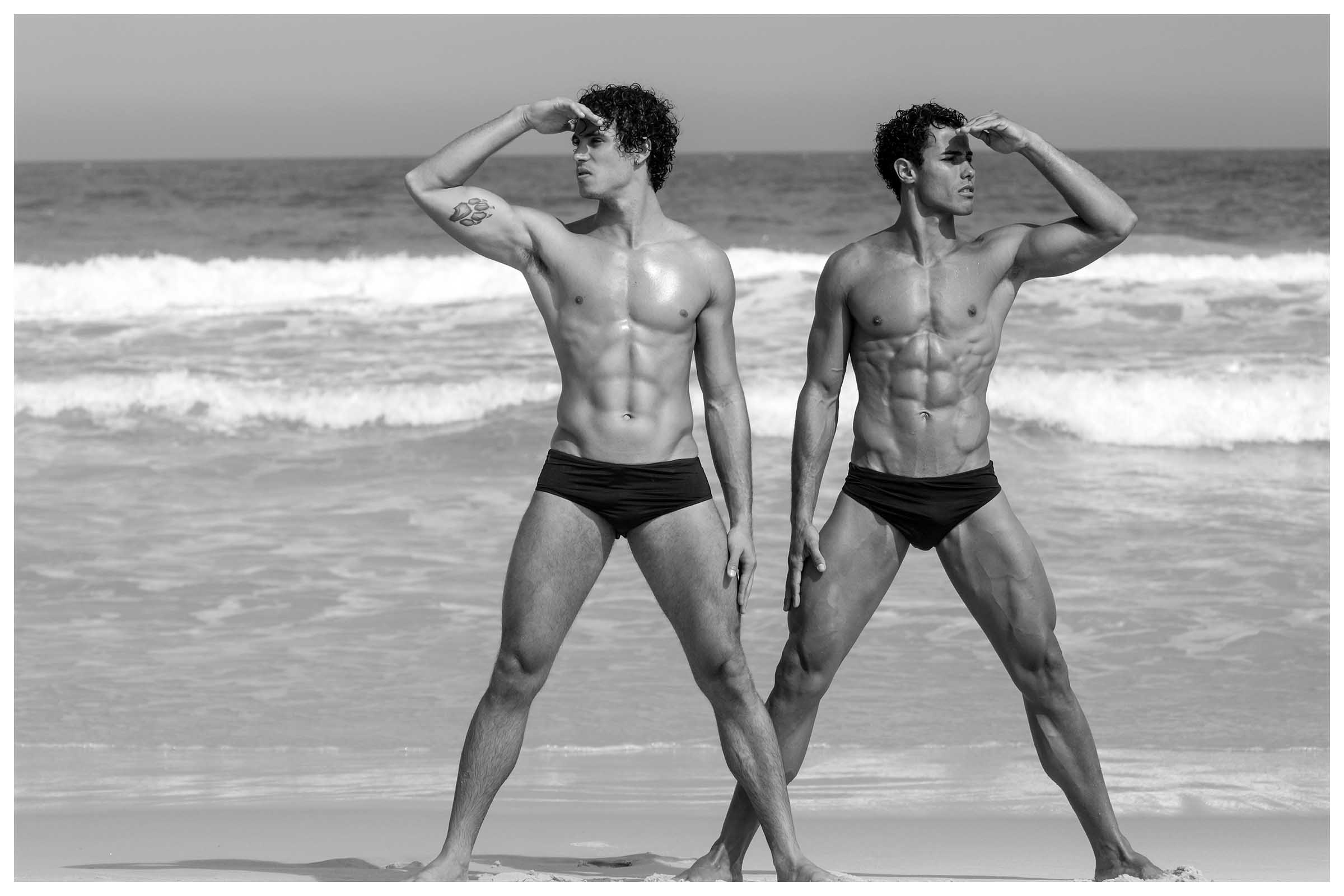 Guilherme Mathias and Max Marcolino by Marcio Farias for Brazilian Male Model