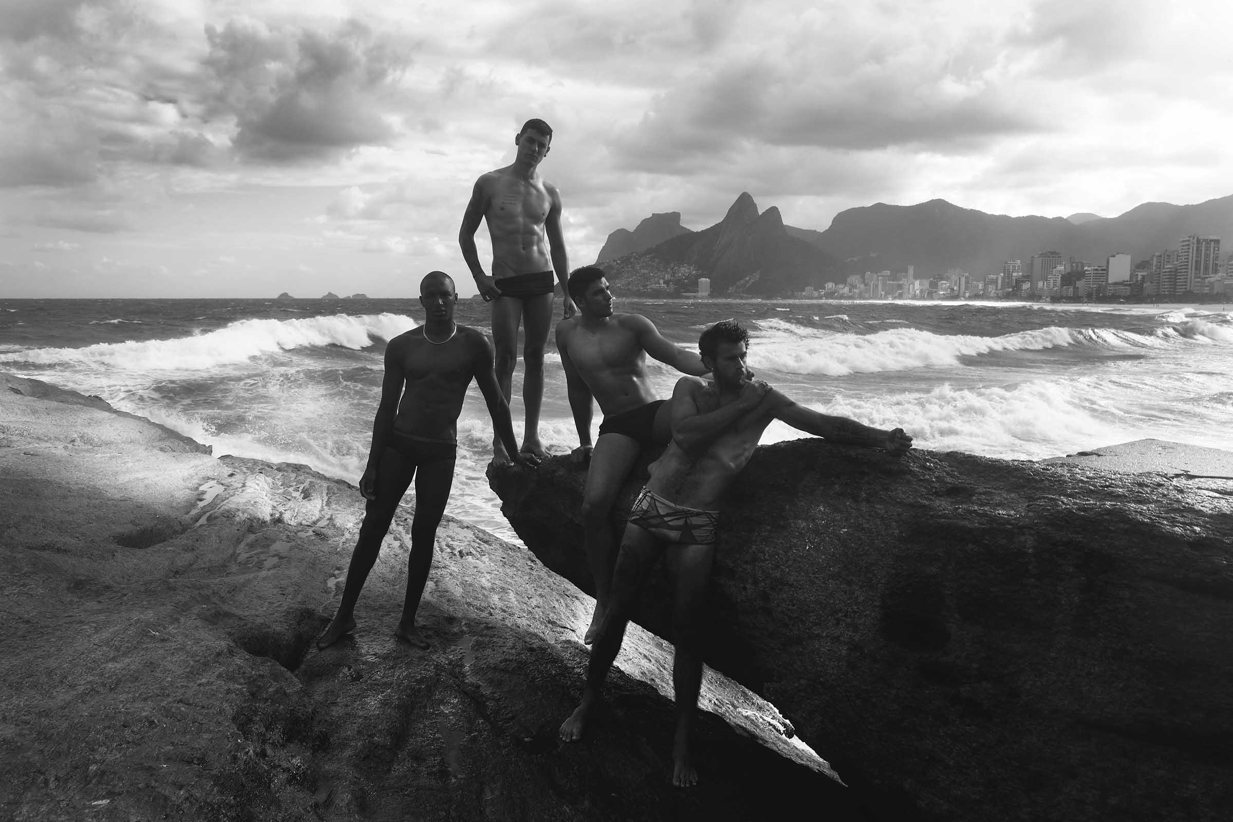 Joran Alcantara, Alan Oliver, Arturo de Cordova and Mateus Mattos by Filbert Kung for Brazilian Male Model